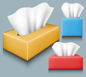Tissue box set — Stock Vector