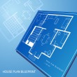 House plan blueprint text background — Imagen vectorial