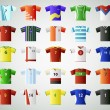 Soccer jersey t-shirt set — Stock Vector