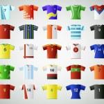 Soccer jersey t-shirt set — Stock Vector #26359643