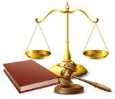 法律相关对象集 — 图库矢量图片