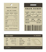 Trein ticket set — Stockvector