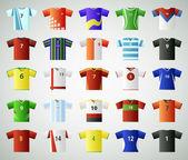 Soccer jersey t-shirt set — Stock Vector