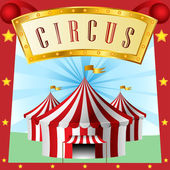 Circus background with tent — Stock Vector