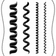 Stock Vector: Telephone cord set