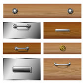 Drawer front set — Stock Vector