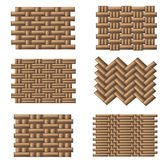 Weave pattern set — Stock Vector