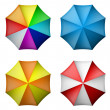Stock Vector: Umbrellset from top view
