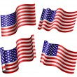 American flag set — Stock Vector #27288615