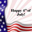 July 4 patriotic text frame — Stock Vector