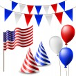 Постер, плакат: July 4 celebrating item set