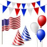 ������, ������: July 4 celebrating item set