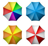 Umbrella set from top view — Stock Vector