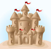 Sandcastle — Stock Vector