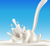 Milk splash — Stock Vector