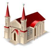 Oude kerkgebouw — Stockvector