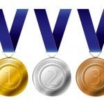 Medal award set — Stock Vector