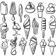 图库矢量图片: Ice cream symbol set