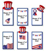 July 4 patriotic card set — Stock Vector