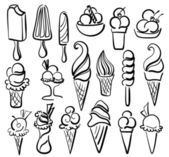 Ice cream symbol set — Stock Vector