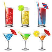 Cocktail set — Stock Vector