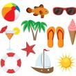 Summer object set — Stock Vector
