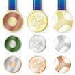 Olympic medal set 2012 — Stock Vector