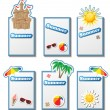 Summer card set with stickers — Stock Vector
