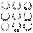 Laurel wreath symbol set — Stock Vector
