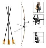 Sport archery bow and arrow — Stock Vector