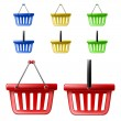 Shopping basket set — Stockvectorbeeld
