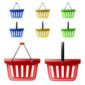 Shopping basket set — Stock Vector
