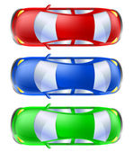 Car set from top view — Stock Vector