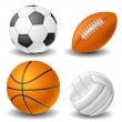 Ball set — Stock Vector