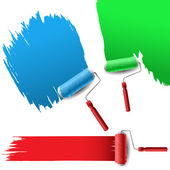 Painting roller set for text background — Stock Vector