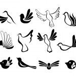 Abstract bird symbol set — Stock Vector #30527365