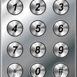 Metal phone keypad — Stock Vector