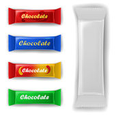 Chocolate bar package set — Stock Vector