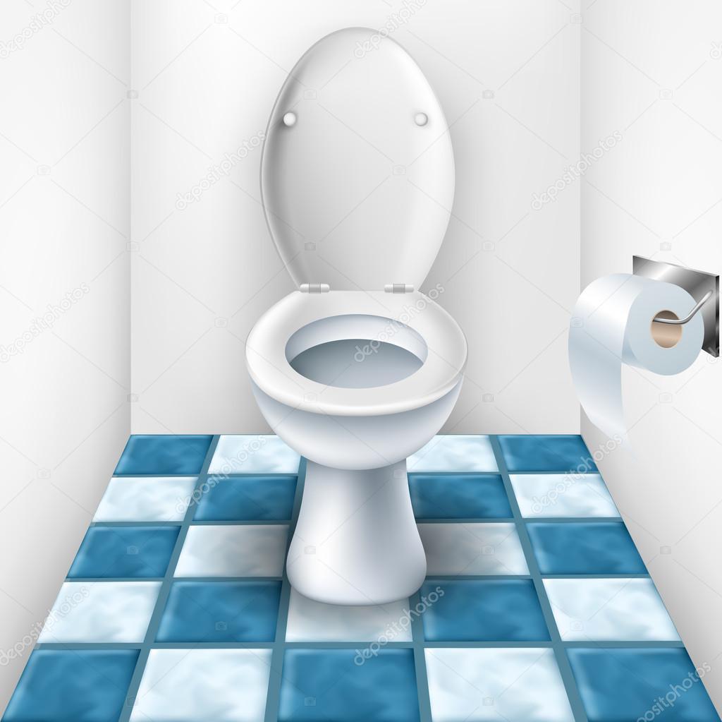 badezimmer mit wc und fliesen-muster — stockvektor © helioshammer