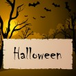 Vettoriale Stock : Halloween text frame