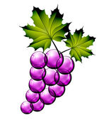 Glass grapes — Stock Vector