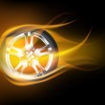 Flaming wheel — Stock Vector #34040535