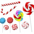 Lollipop and candy set — Stock Vector