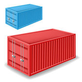 Freight container set — Stockvektor