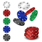 Poker Chip Set — Stockvektor