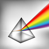 3d prism with light — Stock Vector