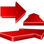 3d red arrow set — Stock Vector #35778801