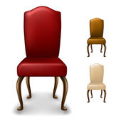 エレガントな椅子セット — ストックベクタ