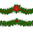 Christmas border decoration set — Stock Vector