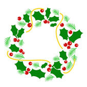 Abstract Christmas wreath — Stock Vector